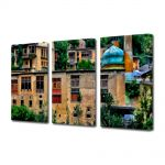 Set Tablouri Multicanvas 3 Piese Pictura urbana