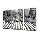 Set Tablouri Multicanvas 3 Piese Trecere de pietoni in New York