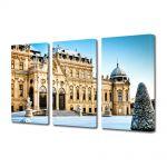 Set Tablouri Multicanvas 3 Piese Palatul Belvedere Viena Austria