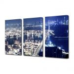 Set Tablouri Multicanvas 3 Piese Hong Kong