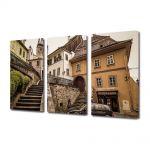 Set Tablouri Multicanvas 3 Piese Turnul cu ceas din Sighisoara