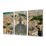 Set Tablouri Multicanvas 3 Piese Piata Sfantul Petru in roma