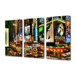 Set Tablouri Multicanvas 3 Piese Reclame in New York