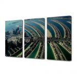 Set Tablouri Multicanvas 3 Piese Insula palmier Dubai