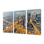 Set Tablouri Multicanvas 3 Piese Vedere de sus in Dubai