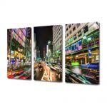 Set Tablouri Multicanvas 3 Piese Strazi in Tokyo