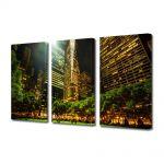 Set Tablouri Multicanvas 3 Piese Parc in New York