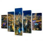 Set Tablouri Multicanvas 5 Piese Chicago Colorat