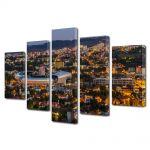 Set Tablouri Multicanvas 5 Piese Panorama a Clujului