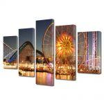 Set Tablouri Multicanvas 5 Piese Ferris Wheel