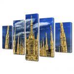 Set Tablouri Multicanvas 5 Piese Cladire gotica