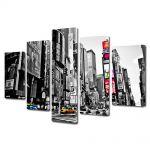 Set Tablouri Multicanvas 5 Piese Times Square New york