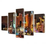 Set Tablouri Multicanvas 5 Piese Las Vegas Nevada SUA
