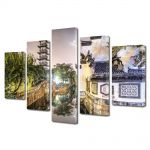 Set Tablouri Multicanvas 5 Piese Shanghai China