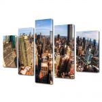 Set Tablouri Multicanvas 5 Piese New York