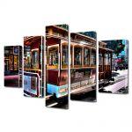 Set Tablouri Multicanvas 5 Piese In San Francisco