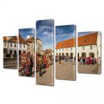 Set Tablouri Multicanvas 5 Piese Piata Mica din Sibiu