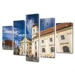 Set Tablouri Multicanvas 5 Piese Sibiu Romania