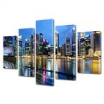Set Tablouri Multicanvas 5 Piese Singapore