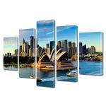 Set Tablouri Multicanvas 5 Piese Opera din Sydney Australia