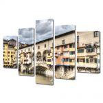 Set Tablouri Multicanvas 5 Piese florenta Italia