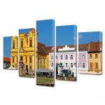 Set Tablouri Multicanvas 5 Piese Piata Unirii Timisoara