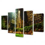 Set Tablouri Multicanvas 5 Piese Parc in New York