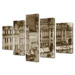 Set Tablouri Multicanvas 5 Piese Palatul telefoanelor Calea Victoriei Bucuresti