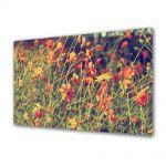 Tablou Canvas Luminos in intuneric VarioView LED Vintage Aspect Retro Flori salbatice
