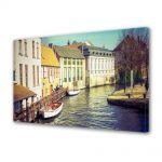 Tablou Canvas Luminos in intuneric VarioView LED Vintage Aspect Retro Casute langa canal