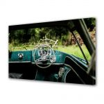 Tablou Canvas Luminos in intuneric VarioView LED Vintage Aspect Retro Interior masina verde