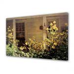 Tablou Canvas Luminos in intuneric VarioView LED Vintage Aspect Retro Flori de gradina