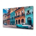 Tablou Canvas Luminos in intuneric VarioView LED Vintage Aspect Retro Culorile din Havana