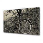 Tablou Canvas Luminos in intuneric VarioView LED Vintage Aspect Retro Bicicleta sub copac