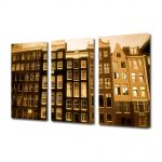 Set Tablouri Muilticanvas 3 Piese Vintage Aspect Retro Case olandeze