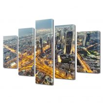 Set Tablouri Multicanvas 5 Piese Vedere de sus in Dubai
