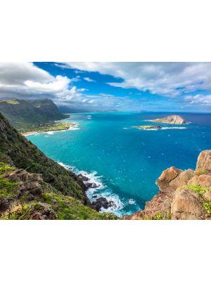 Tablou Canvas Ocean, vedere de pe stanci 60 x 80 cm - 44% reducere
