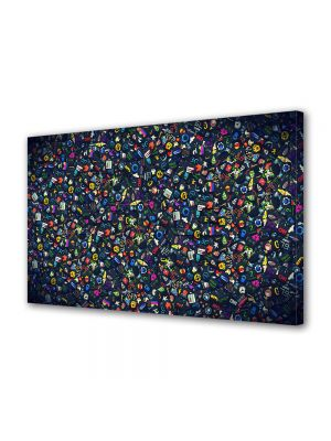 Tablou Canvas Luminos in intuneric VarioView LED Abstract Modern Culori