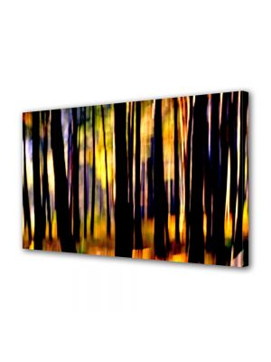 Tablou Canvas Luminos in intuneric VarioView LED Abstract Modern In padure