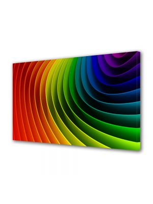 Tablou Canvas Luminos in intuneric VarioView LED Abstract Modern Curcubeu
