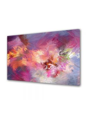 Tablou Canvas Luminos in intuneric VarioView LED Abstract Modern Roz