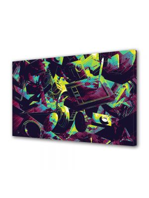 Tablou Canvas Luminos in intuneric VarioView LED Abstract Modern Culori vintage