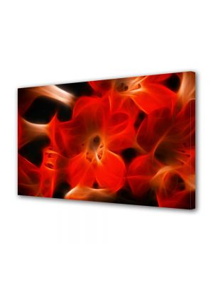 Tablou Canvas Luminos in intuneric VarioView LED Abstract Modern Floare abstracta