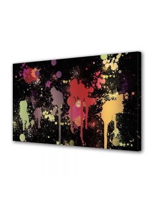 Tablou Canvas Luminos in intuneric VarioView LED Abstract Modern Pete de vopsea