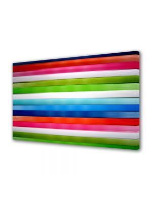 Tablou Canvas Luminos in intuneric VarioView LED Abstract Modern Linii orizontale
