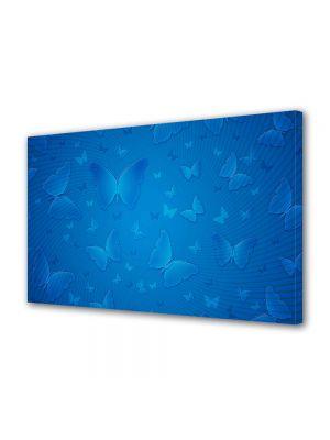 Tablou Canvas Luminos in intuneric VarioView LED Abstract Modern Fluturi albastri