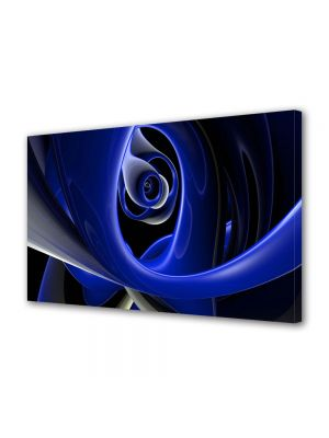 Tablou Canvas Luminos in intuneric VarioView LED Abstract Modern Negura