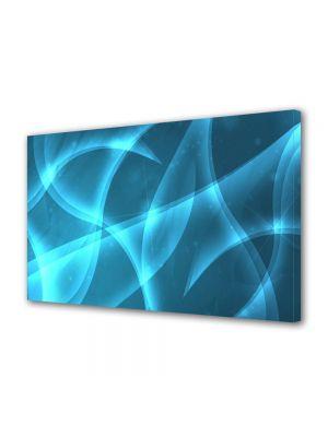 Tablou Canvas Luminos in intuneric VarioView LED Abstract Modern Lumina Bleu