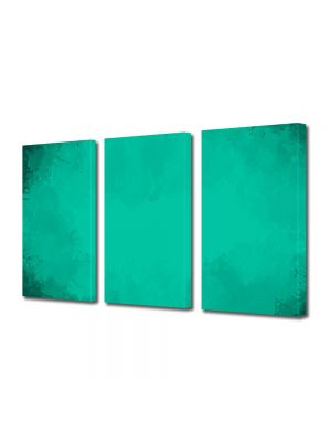 Set Tablouri Multicanvas 3 Piese Abstract Decorativ Turcoaz
