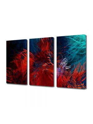 Set Tablouri Multicanvas 3 Piese Abstract Decorativ Compozitie